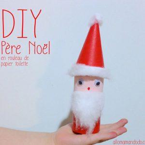 kideaz DIY Père Noel en rouleau de papier toilette