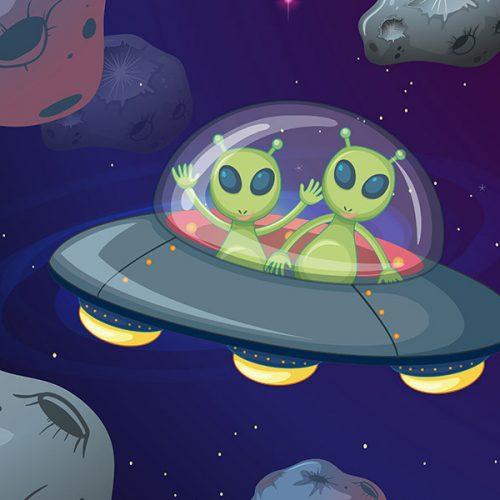 kideaz alien ovni espace dessin
