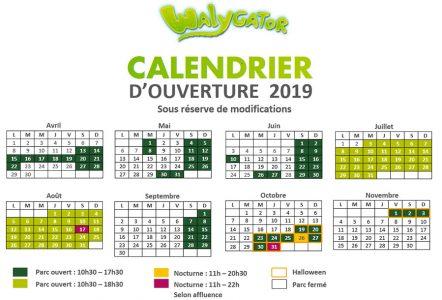 kideaz calendrier walygator park 2019