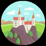 kideaz chateau icone illustration princes princesses