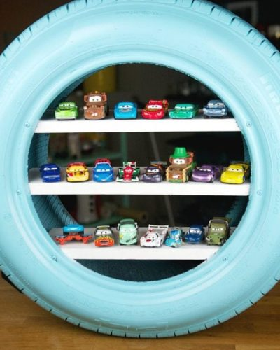 kideaz diy upcycling étagère pneu