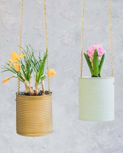 kideaz diy upcycling pot de fleurs suspendu herrletter