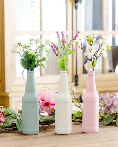 kideaz diy upcycling vase bouteille bière copyright firstdayofhome