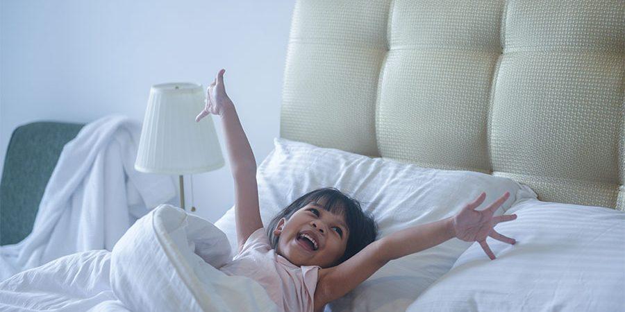 kideaz enfant matin enthousiaste