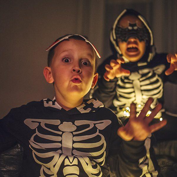kideaz halloween enfants masques peur atelier