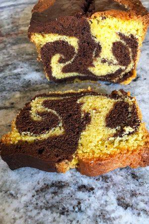 kideaz ideaz recette cake marbre resultat final patisserie gateau